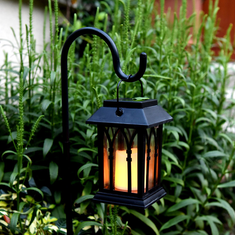 Solar Power Waterproof LED Candle Light Outdoor Garden Lawn Path Street Hanging Lantern Lamp JDH99 outdoor solar power led candle light yard garden decor tree palace lantern light hanging wall lamp clh 8