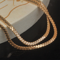 (450*2mm )Charming Gold Plated Small Chain Necklaces Men Good Quality