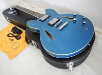 Wholesale and Retail Custom Metal blue DG335 Dave Grohl signature Semi Hollow Jazz Electric Guitar with case