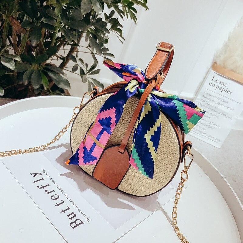 Stroh Strand Tasche Bolsa Feminina Schulter Tasche Messenger Umhängetaschen für Frauen Handtasche Taschen für Frauen 2018 Bolsa De Palha donna