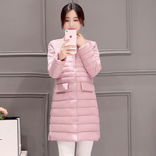 2016 Autumn And Winter New Pattern Cotton Small Stand Lead Slim Long Fund Frivolous Loose Woman