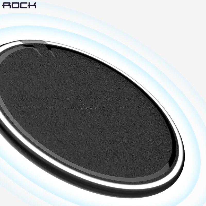 ROCK 10 W Qi cargador inalámbrico para iPhone X/8 inalámbrico rápido cargador para Samsung Galaxy S9/ 8 Nota 9 carga