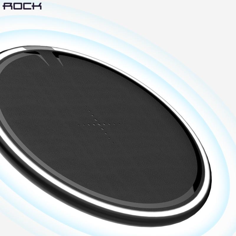 ROCK 10 w Qi Sans Fil Chargeur pour iPhone X/8 Rapide sans fil chargeur de Téléphone pour Samsung Galaxy S9/ 8 Note 9 de charge pad