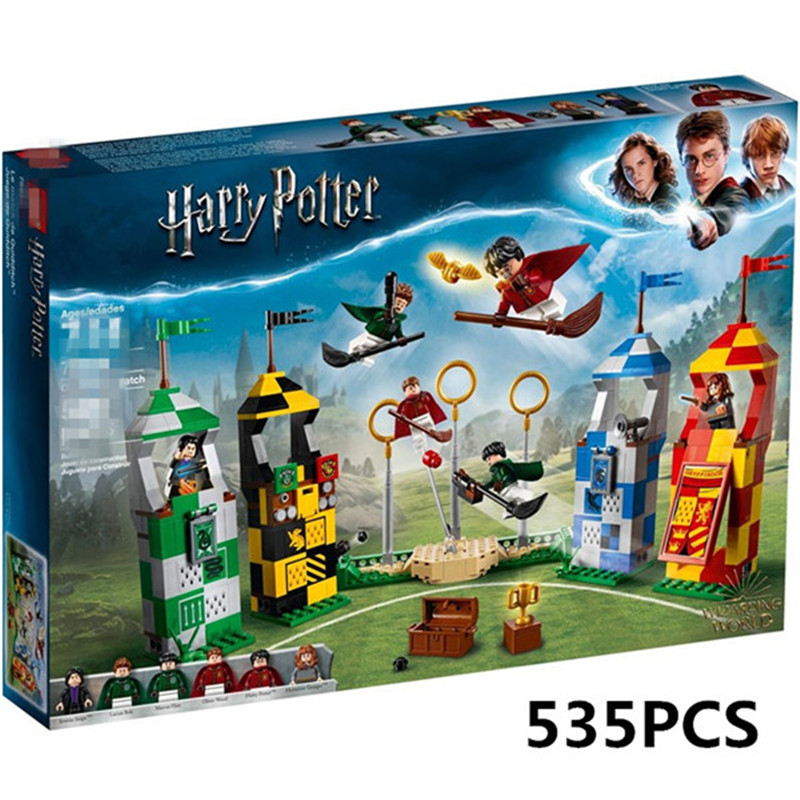New Harri Potter Movie Quidditch Match Building Blocks Bricks Toys For Children Christmas Gifts Compatible With