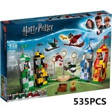 Новый Харри Поттер фильм Quidditch матч строительные блоки кирпичи игрушки для детей рождественские подарки Совместимость с Legoing 75956