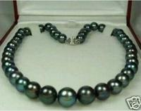 Gorgeous DIY 8 9mm Black Tahitian Natural Mother of Pearl Necklace 18 AAA Beads Jewelry Making