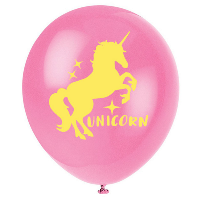 FUNNYBUNNY 5pcs Unicorn Latex Balloon New quot Unicorn quot Print Party Decoration Supplies in Ballons amp Accessories from Home amp Garden
