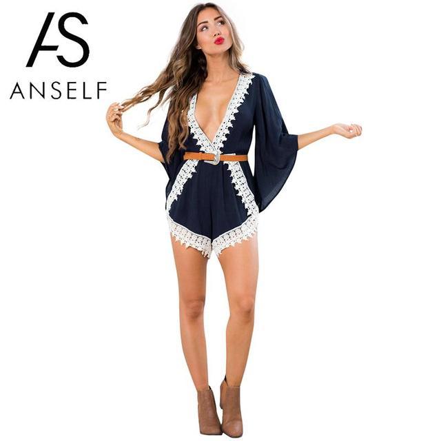 2a18e982570 3XL 5XL Plus Size Jumpsuit for Women Overalls Playsuit Contrast Floral  Crochet Lace Elastic Waist Sexy