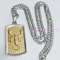 Incrível Design Silver18K ouro praça Scorpions pingente Nacklace jóias 316L Sainless aço Mens Free 60 cm * 4 mm Cuba Chain Link