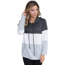 цены Woman Hoodies Sweatshirts Ladies Long Sleeve Autumn Winter Fashion Patchwork Pockets Sports Clothing Sweat Shirts Hoodies