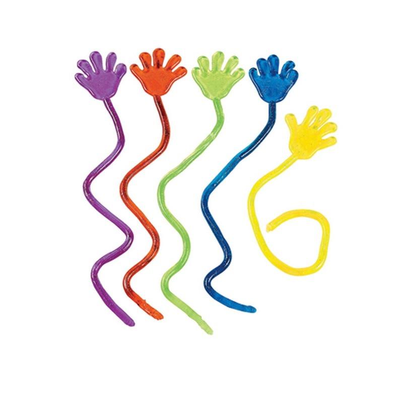 5 шт. Горячие Продаж Липкие Руки Игрушки Для Детей Весело День Рождения Подарок Сувениры Эластичный Эластичный Липкий Palm Игрушки Случайная цвет