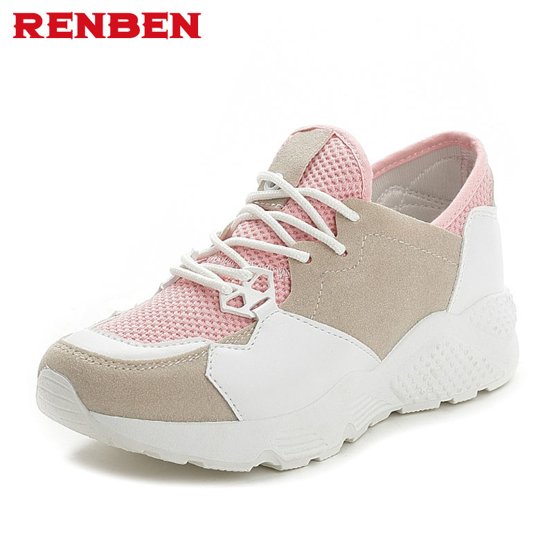 Fashion women flats Breathable Mesh Women Casual Shoes Lightweight Platform gym shoes Comfortable Women  spring Shoes 2017 free shipping candy color women garden shoes breathable women beach shoes hsa21