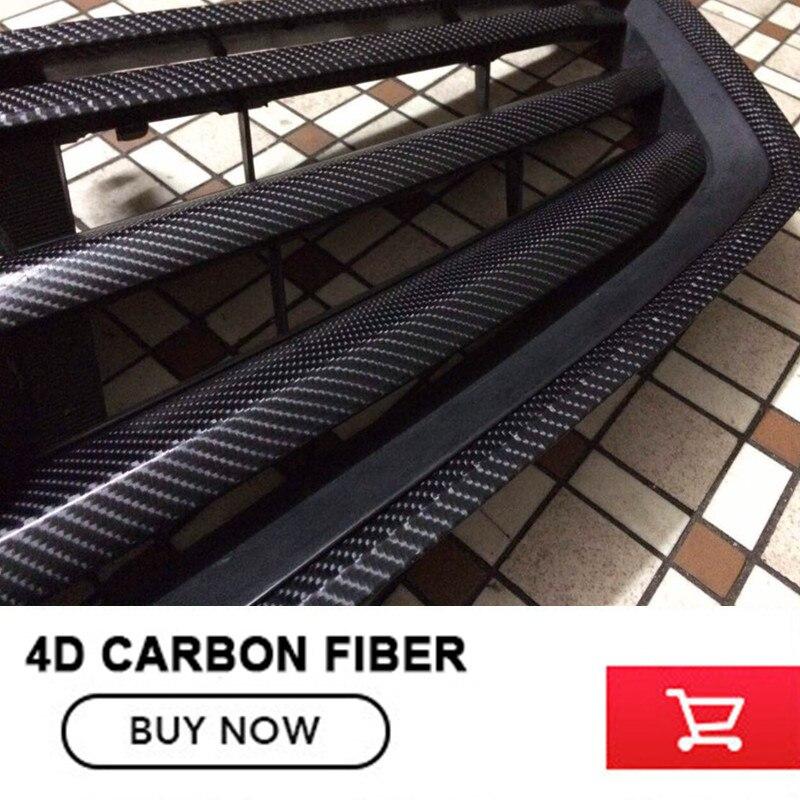 Black Gloss 4D Carbon Fiber Vinyl Film Air Free Bubble For Car Motorcycle Jetski Boat Size:1.52M x 30M high quality black glossy 2d carbon fiber vinyl air free bubble for vehicle wraps size 1 52 30m roll