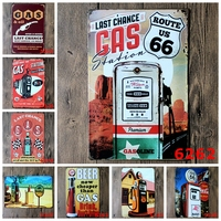 Random delivery 10PCS Vintage Metal painting bundled sale wall painting art wall stickers crafts cafe Restaurant Bar decoration