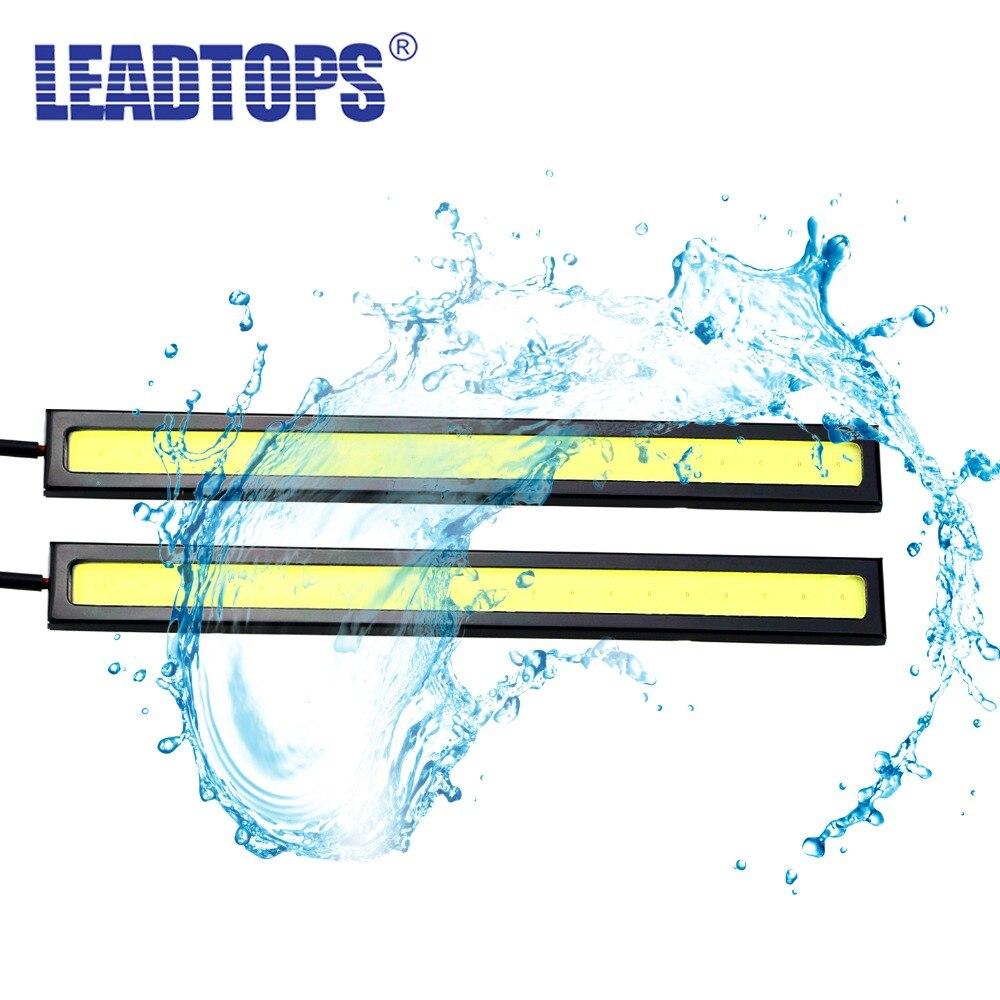 ღ Ƹ̵̡Ӝ̵̨̄Ʒ ღ2PCS 12V 100% Waterproof Ultra-Thin 17CM COB Chip ...