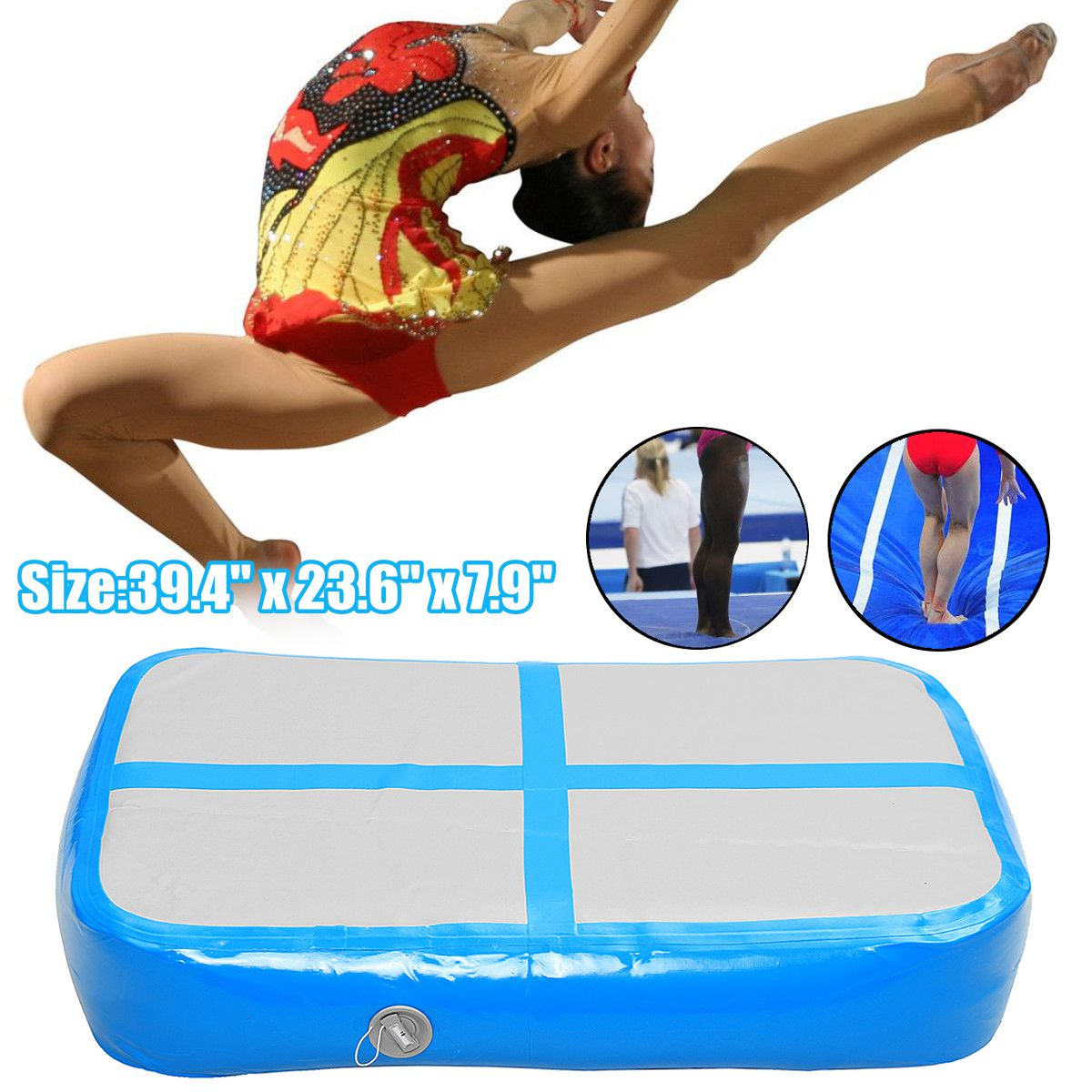 Air Track Floor Home Inflatable Gymnastics Training Tumbling Mat GYM for Kids inflatable zorb ball race track pvc go kart racing track for sporting party