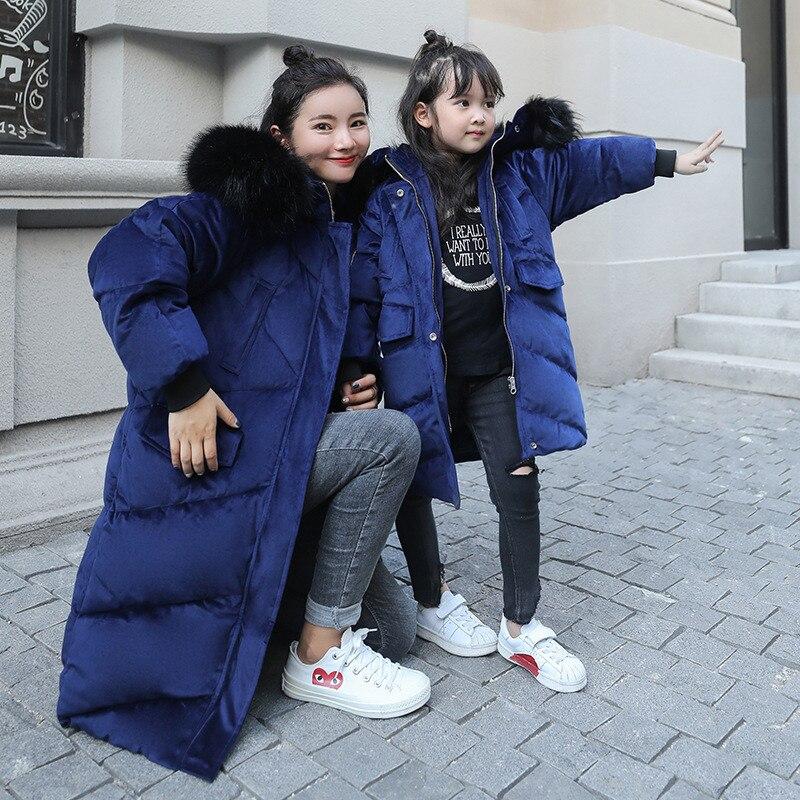dc4eb31a2042b Épaississent pink Blue Femmes Hiver Navy Manteau En Survêtement Femme Fille  Vêtements À Coton Capuchon rembourré ...