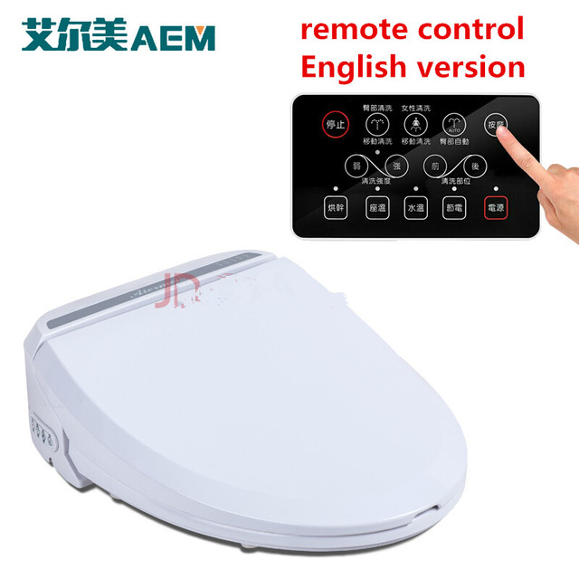 Smart Heated Toilet Seat With Remote Control Bidet Toilet Seat Hinge ...