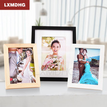 A4 Size Wood Photo Frame Wood Card Backplane Stand Table Display Photo Quadro Decoration TV Wall Frame Best Gift 2019(China)