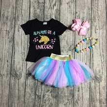 15f795347b88a Buy unicorn girls clothes black and get free shipping on AliExpress.com