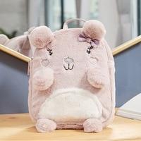 Kawaii Rabbit Plush Backpack Cute Rabbit Backpack Stuffed 3D Animal Baby Bags Kids Toy Lovely Girls