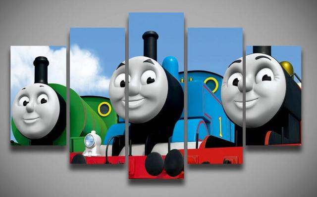 HD Printed movie posters Thomas Friends painting on canvas 5 pcs ...