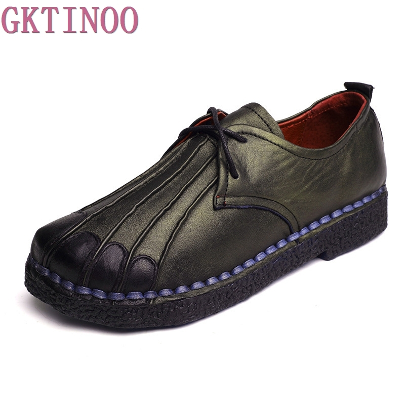 Handmade genuine leather women's shoes vintage female moccasins loafers soft cow muscle outsole casual shoes flats 2018 new summer handmade breathable women s shoes genuine leather female hole loafers soft outsole casual shoes flats