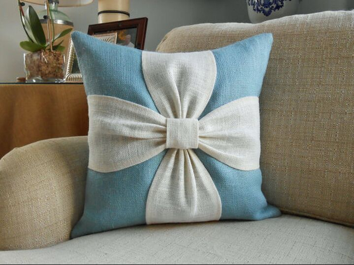 Applique Small Chrysanthemum Pillow Cushion Lumbar Pillow