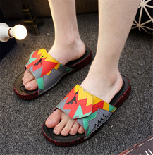 2016 new leather shoes, casual shoes men's  outdoor summer beach slippers SUB943