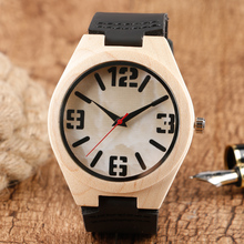 Genuine Leather Band Novel Simple Analog Wristwatch Marble Pattern Face Nature Wood Bamboo Women Creative Watches Relogio Gift