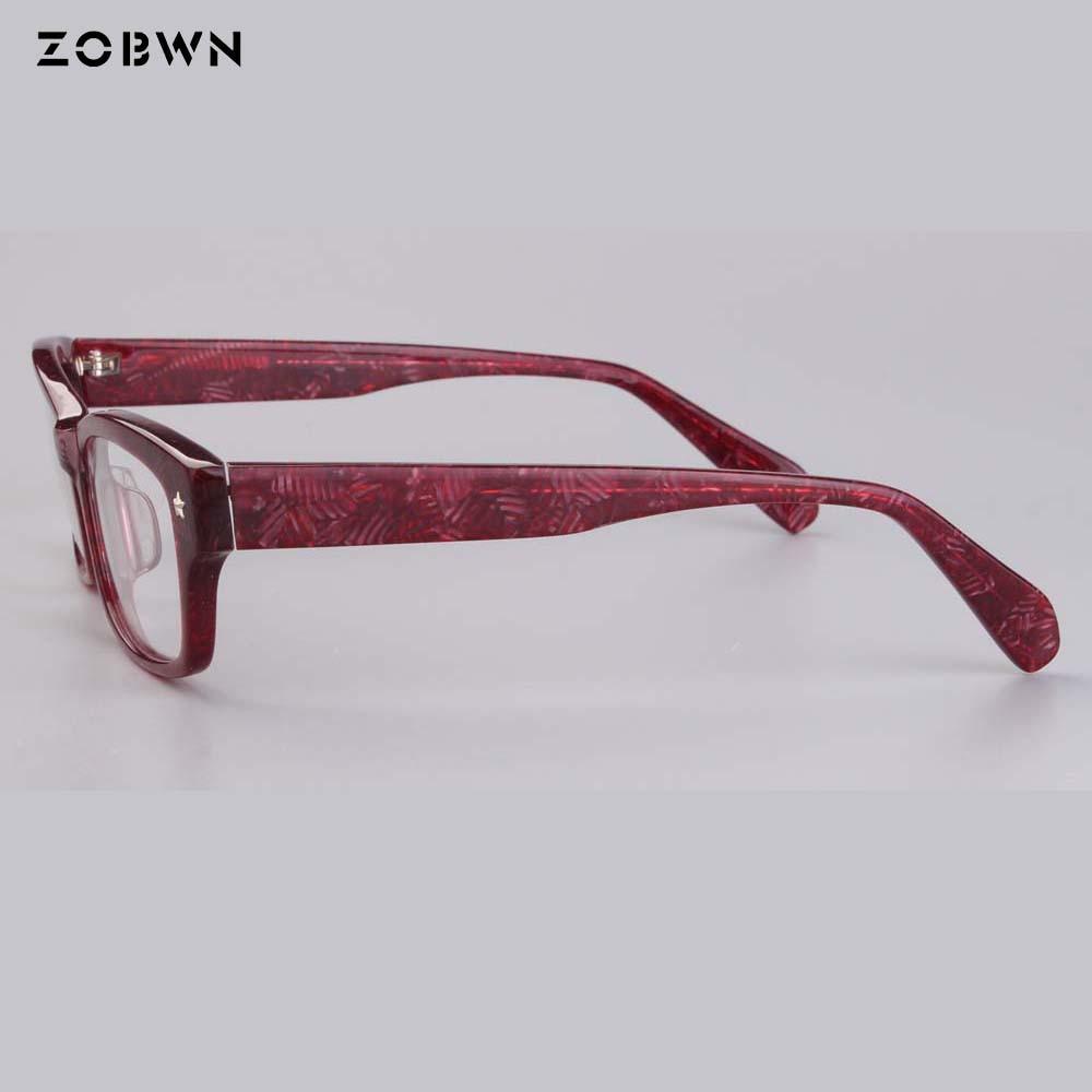 Red vintage glasses women presciprtion glasses man frames Lunette generous oculos de grau femininos computer lentes rivet gafas in Men 39 s Eyewear Frames from Apparel Accessories