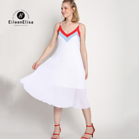 Runway Dress Designers 2017 Women Slip Dress Maxi Long Dress White