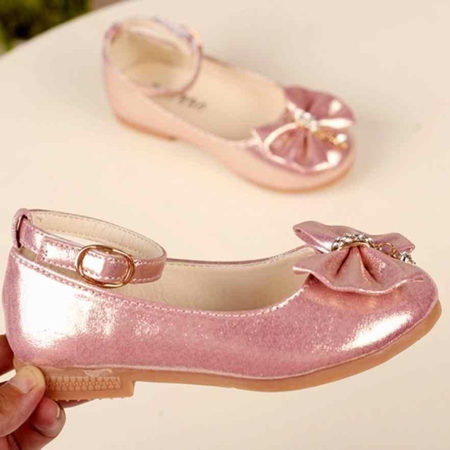 2018 nowa moda dzieci dziewczyna moda księżniczka Bowknot taniec maluch wysokiej jakości buty