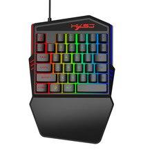 Проводная клавиатура OMESHIN Keybord эргономичная многоцветная клавиатура подсветка с одной рукой игровая клавиатура Ноутбук игровой компьютер периферийные устройства 118A