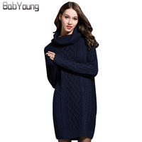 LIKEPINK 2017 Spring New Women Dress Wool Sweater Long Sleeve Pullovers Mini Skirt High Necked Fashion