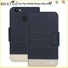 Maxred Original! Fly FS530 Power Plus XXL Case 5 Colors High Quality Flip Ultra-thin Luxury Leather Protective