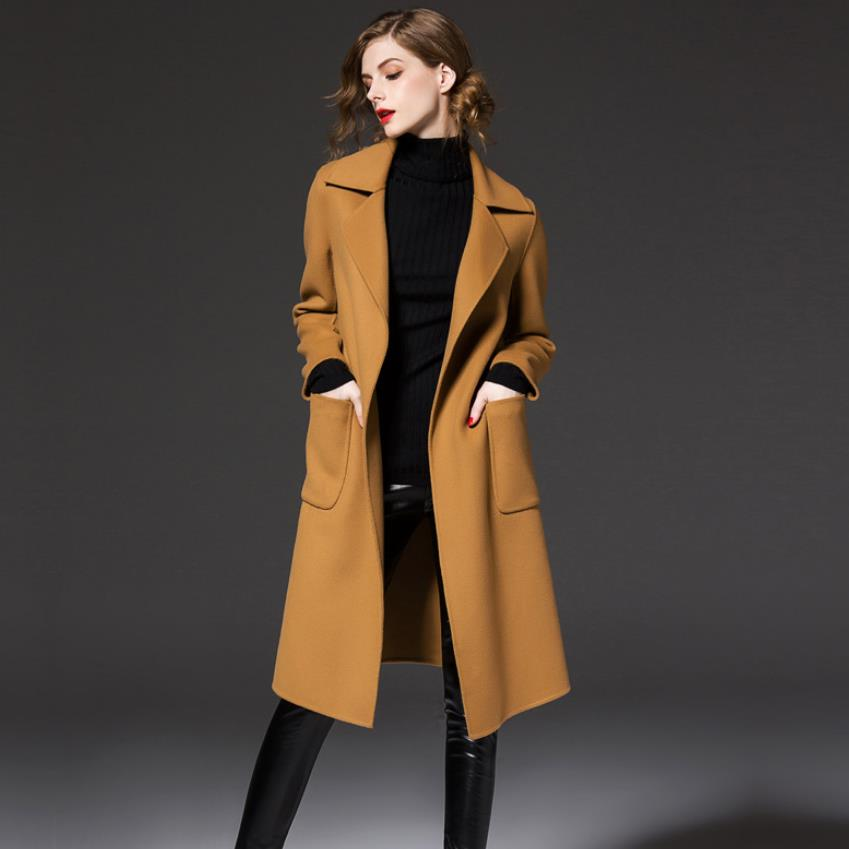 Online Buy Wholesale belted wool trench coat from China belted