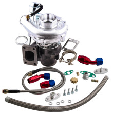 Hose-Line-Kit Turbocharger V-Band Turbo-0.63 T3T4 Hybrid TO4E Balanced Oil-Drain-Return