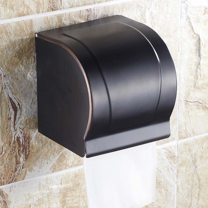 Modern Wall Mounted brass Bathroom Oil Rubbed Bronze Toilet roll Paper Holder Paper Box oil rubbed bronze toilet paper holder wall mount tissue box