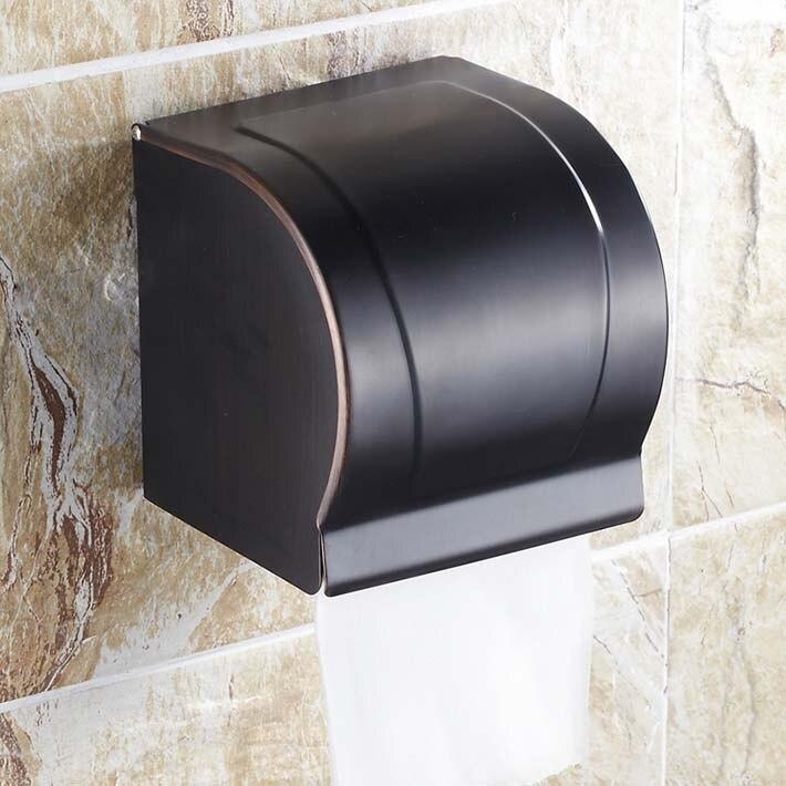 Moderne mural en laiton salle de bains en Bronze huilé toilette porte-rouleau de papier boîte de papier
