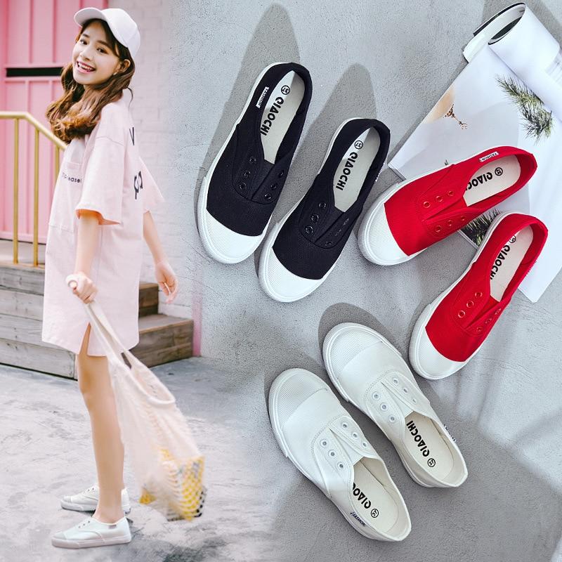 JINBEILEE/Женская парусиновая обувь с низким вырезом, повседневная спортивная обувь для скейтбординга, женские кроссовки для отдыха