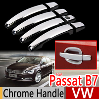 For VW Passat B7 NMS Chrome Handle Covers Trim Set For Volkswagen MK7 2010 2015 Sedan