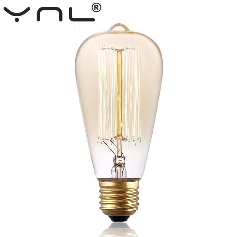 Lights & Lighting ... Lighting Bulbs & Tubes ... 32712066466 ... 5 ... Retro Edison Bulb ST64 A19 T45 G80 G95 G125 Incandescent Light Bulb E27 220V 40W filament bulb lighting tubes Edison ...