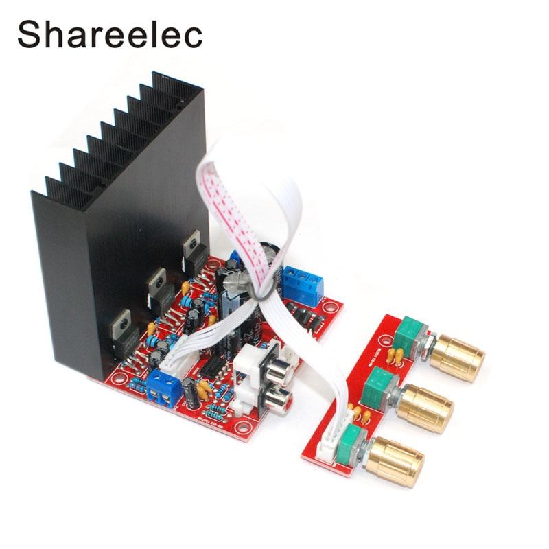 Shreelec LM1875 Super Bass 2.1 сабвуфер Усилители домашние доска трехканальный Динамик аудио Усилители домашние доска