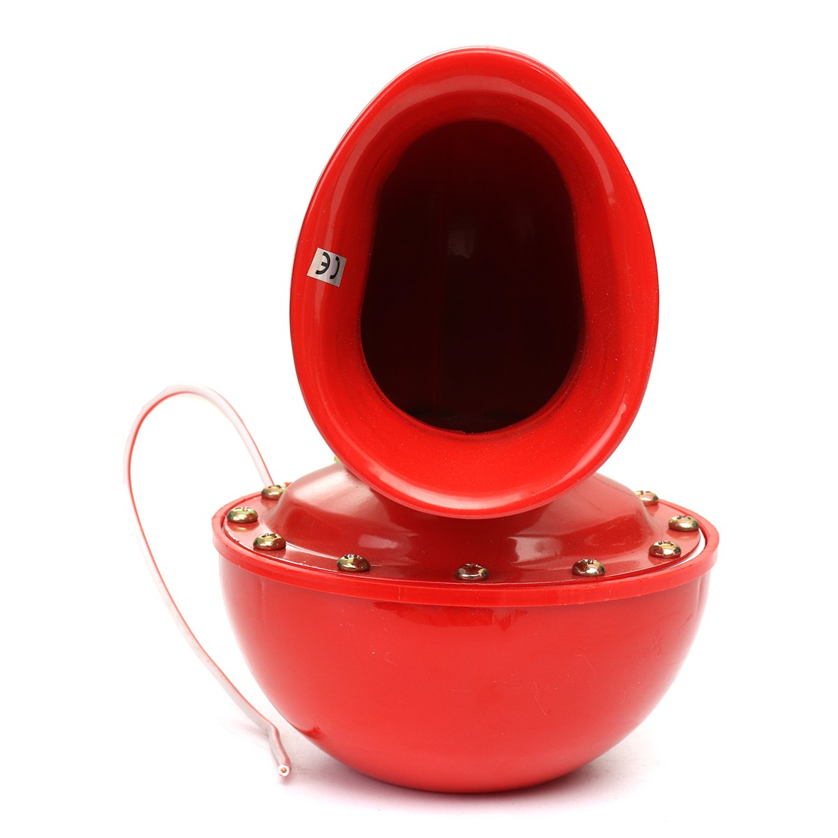 8A 12V 115dB 175Hz Red Metal Electric Bull Horn Super Loud Raging Sound For Car Motorcycle Truck Boat ...