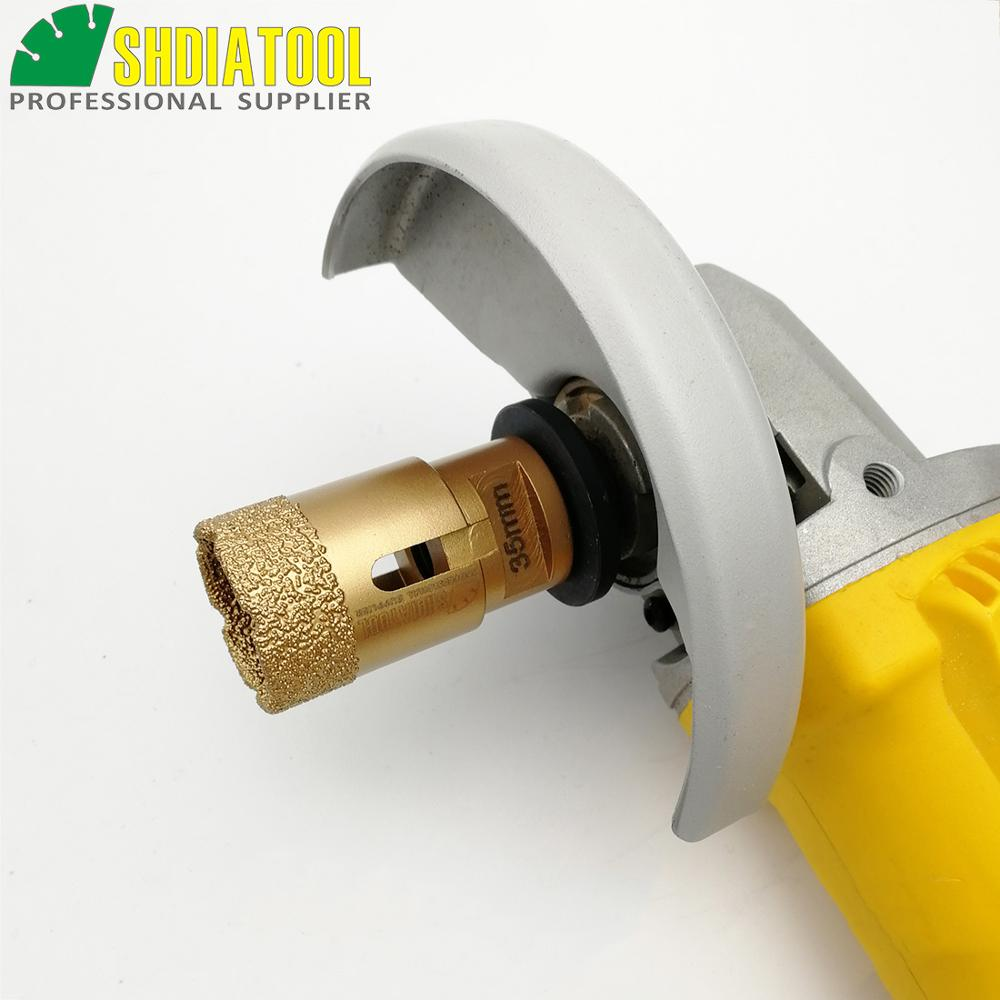 SHDIATOOL Saw-Stone Drill-Bit Tile-Hole Crown Vacuum Brazed 1pc M14 Diamond Dry