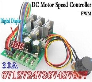 Image 1 - LED 30A PWM Tốc Độ Động Cơ Khiển Kỹ Thuật Số Điều Điều Khiển Hiển Thị Mô đun Chuyển Đổi DC6 60V