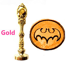 Vintage Bat Custom Picture Logo Luxury Wax Seal Sealing Stamp Brass Peacock Metal Handle Gift Set