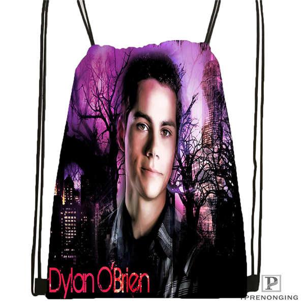 Custom portrait practice dylan o brien Drawstring Backpack Bag Cute Daypack Kids Satchel Black Back 31x40cm