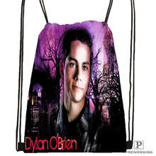 Custom portrait practice dylan o brien Drawstring Backpack Bag Cute Daypack Kids Satchel (Black Back) 31x40cm#180611-03-108